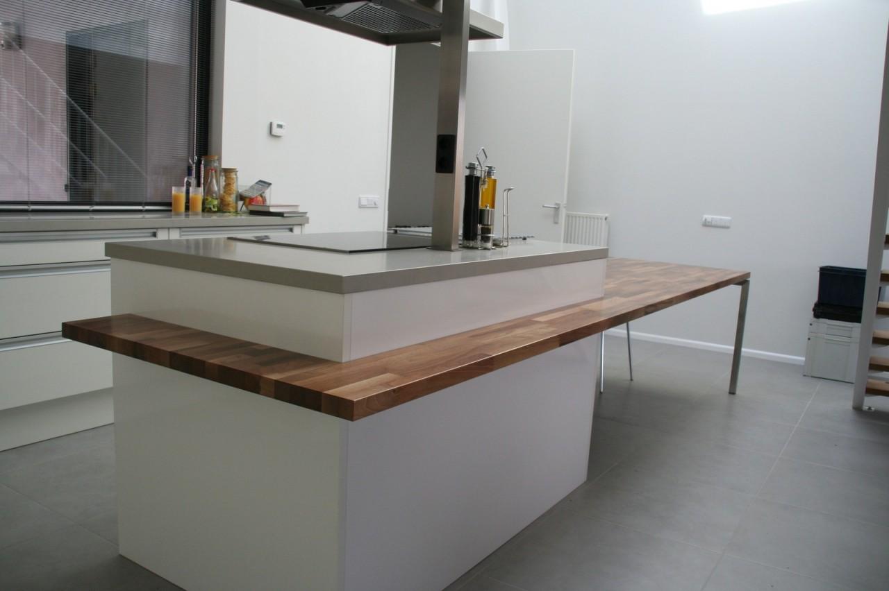 Keukentafel staal ontwerp - Eiland keukentafel ...